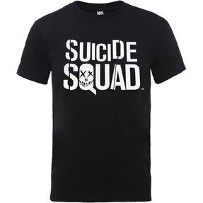 Čierne Tričko DC Comics Suicide Squad Logo