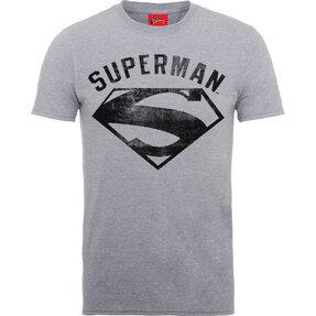 Tmavošedé Tričko DC Comics Superman Logo Spray