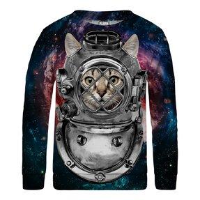 Detská mikina bez kapucne Astronaut Cat