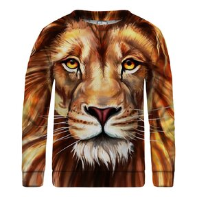 Kinder Sweatshirt ohne Kapuze Oil Painting Lion