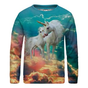 Kinder Sweatshirt ohne Kapuze Unicorns Family