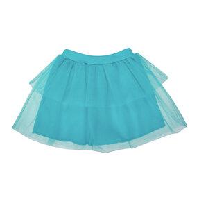 Dětská modrá sukně z tylu