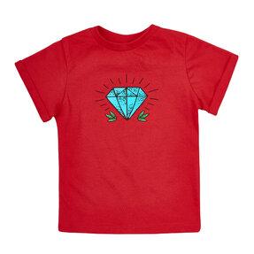 Dětské červené tričko Diamant