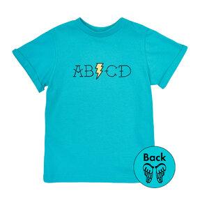 Detské modré tričko ABCD
