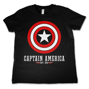 Kinder T-Shirt Marvel Comics Captain America Logo
