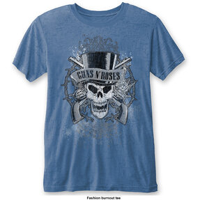 Hellblaues T-Shirt Guns N' Roses Faded Skull