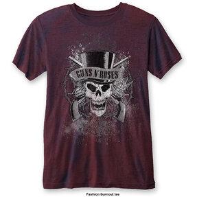 Rotes T-Shirt Guns N' Roses Faded Skull