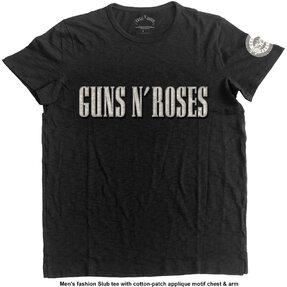 Guns N' Roses Logo & Bullet Circle Pólo