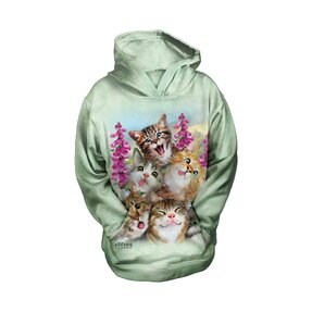 Dětská mikina s kapucí Selfie kočky