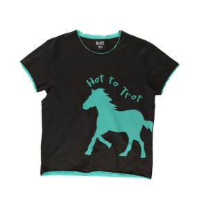 Dámske tričko na spanie Koňské stádo