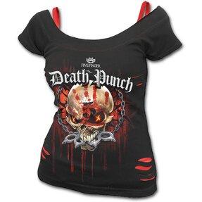 Dámske tričko 2v1 Five Finger Death Punch