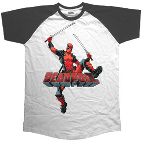 Tričko Marvel Comics Deadpool Logo Jump