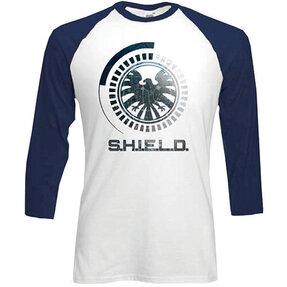 Tričko se třičtvrtečním rukávem Marvel Comics S.H.I.E.L.D Symbol