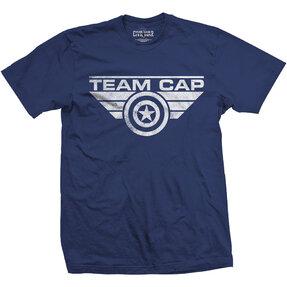 Tričko Marvel Comics Captain America Team Cap Logo