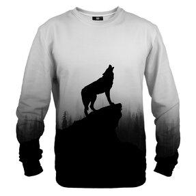 Mikina bez kapucne Vlk na skale