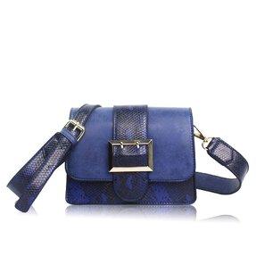 Modrá kabelka Hadia koža
