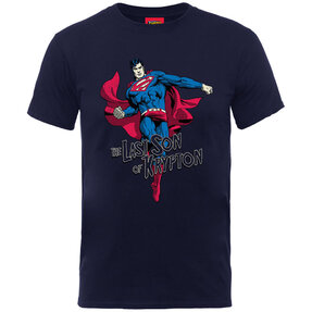 Kinder T-Shirt Blau Superman Son of Krypton