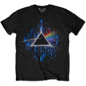 Tričko Pink Floyd Dark Side of the Moon Blue Splatter