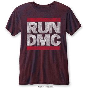 Červené tričko Run DMC DMC Logo