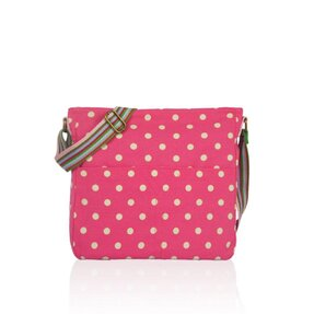 Crossbody Tasche Rosa gepunktet