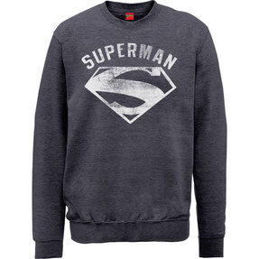 Šedá mikina bez kapucne DC Comics Superman Logo Spray