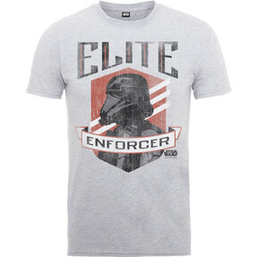 Hellgraues Kinder T-Shirt Star Wars Elite Enforcer