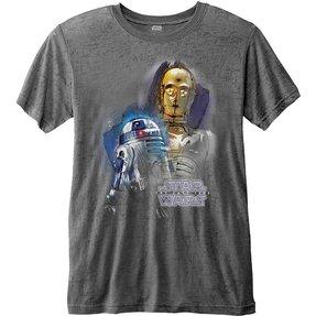 Tmavošedé tričko Star Wars Episode VIII Droids Portrait