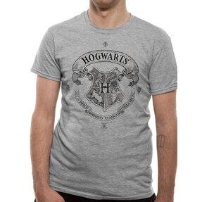 Tričko Harry Potter Rokfort šedé