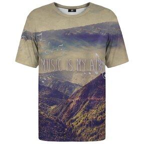 T-Shirt mit kurzen Ärmeln Music is my air