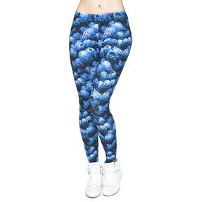Damen Leggings elastisch Heidelbeeren