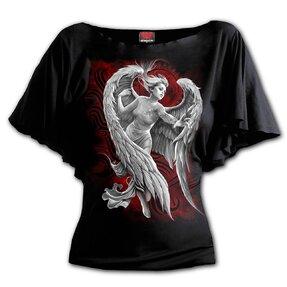 Dámske Plus size volánové tričko Anjelská beznádej