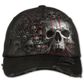 Czarna czapka Kolekcja czaszek