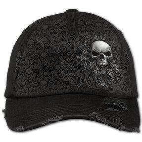 Czarna czapka z daszkiem Ciemny ornament