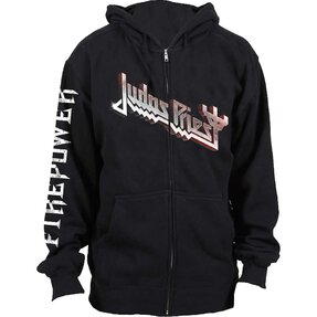 Čierna mikina na zips Judas Priest Firepower