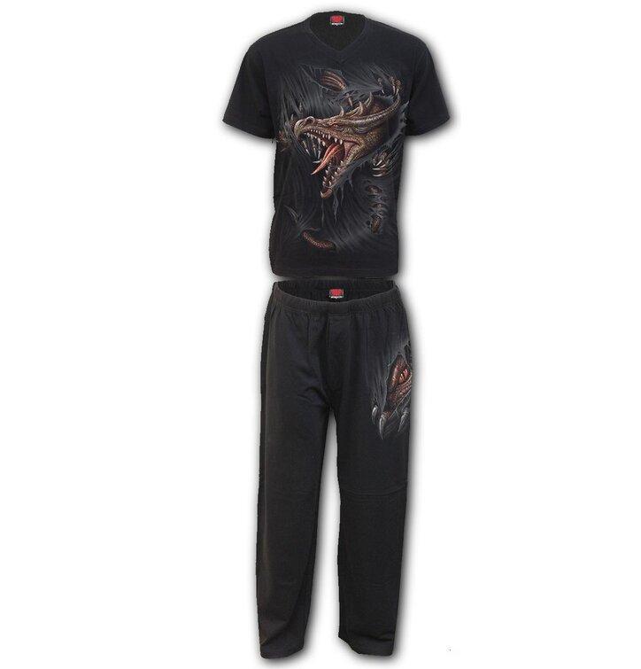 Herren Pyjama Zweipackung Spiral Direct Drachenflucht