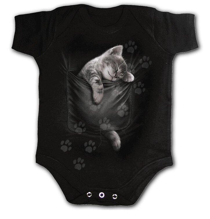Dětské body Spiral Direct Pocket kitten