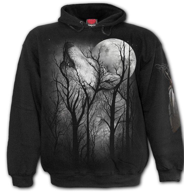 Bluza z kapturem Spiral Direct Leśny wilk
