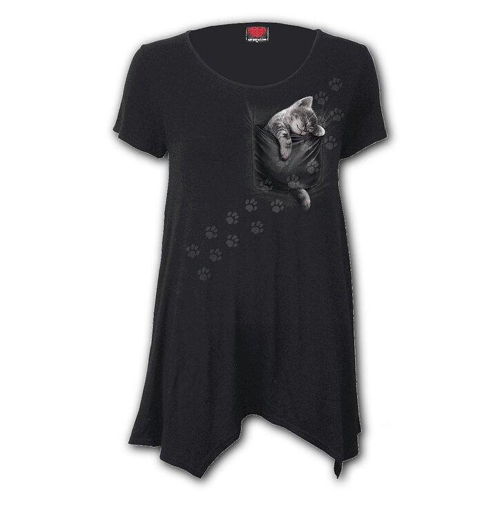 Dámske tričko s krátkym rukávomSpiral Direct Pocket kitten