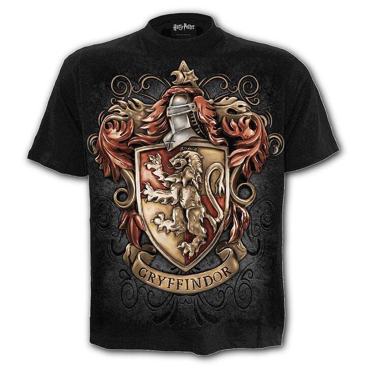 Černé tričko s krátkým rukávem Harry Potter Nebelvír