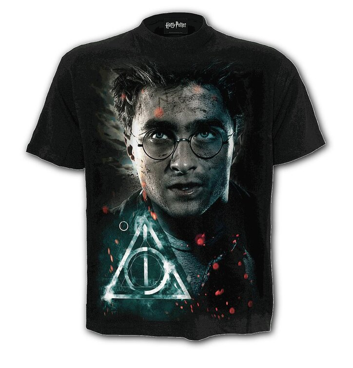 Tričko s krátkým rukávem Harry Potter Harryho tvář
