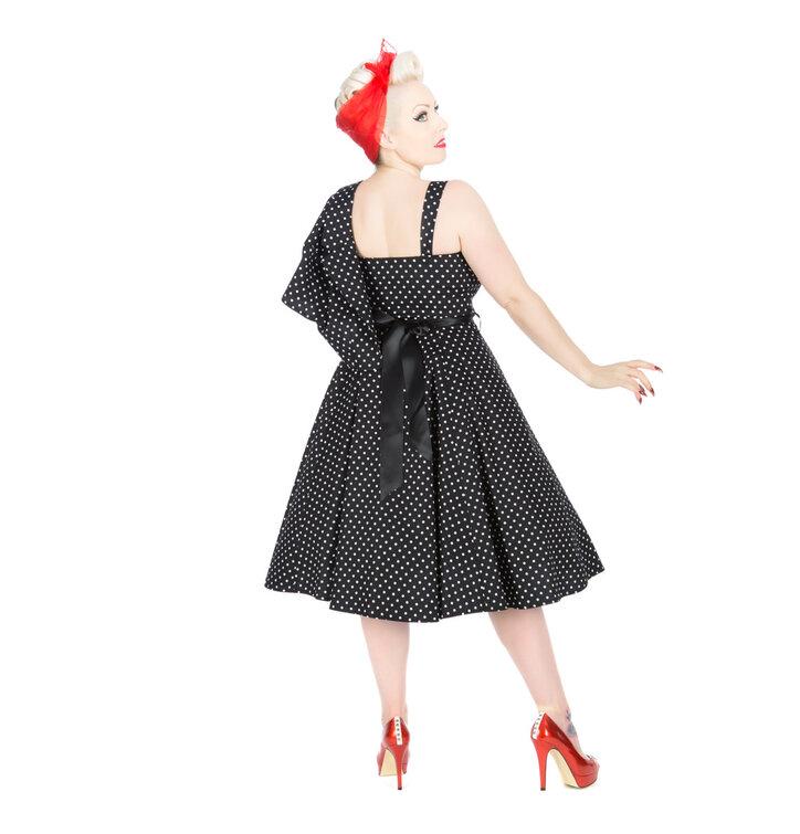 Tip na darček Čierne bodkované retro pin up šaty c04b95f8b02