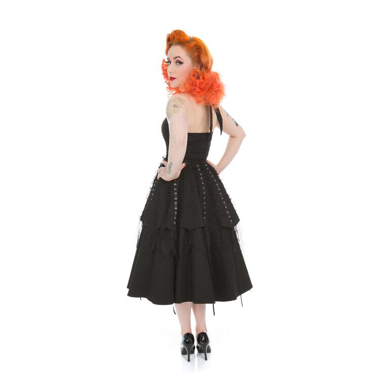 57032810ce1f Potešte sa týmto kúskom Dedoles Čierne gotické retro šaty