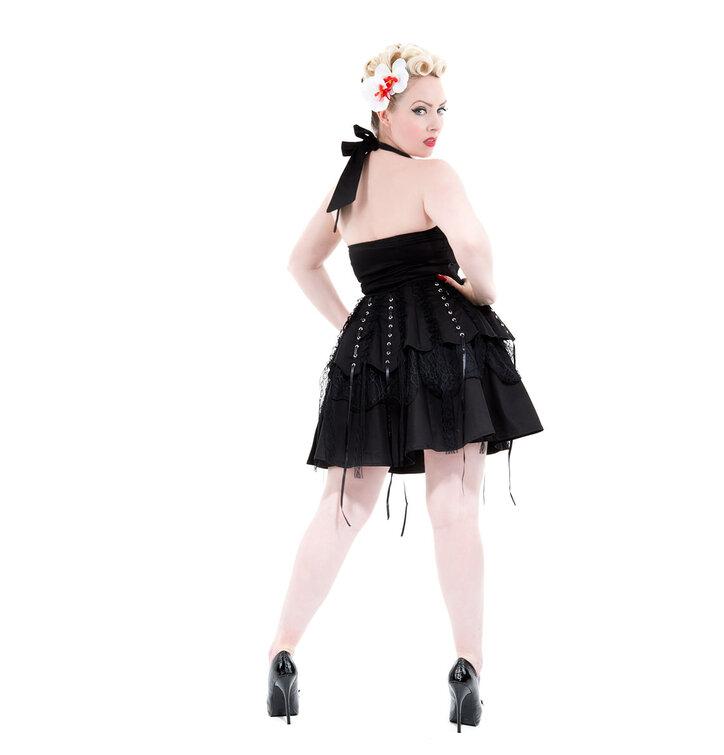 74b43ffa3243 Hľadáte originálny a nezvyčajný darček  Obdarovaného zaručene prekvapí  Čierne gotické krátke retro šaty