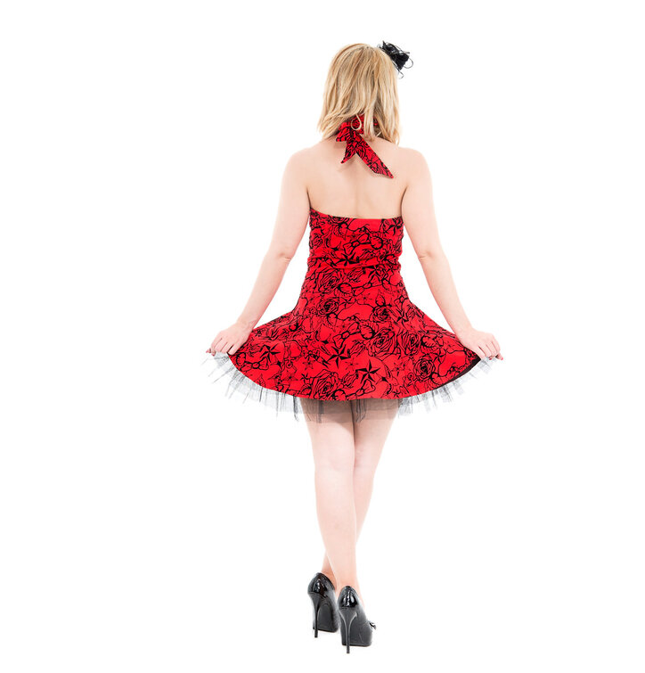 e9225f012e Piros rövid gótikus ruha | Dedoles