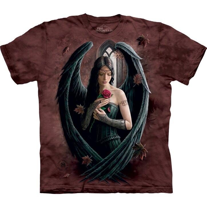 Tričko Čierny anjel s ružou