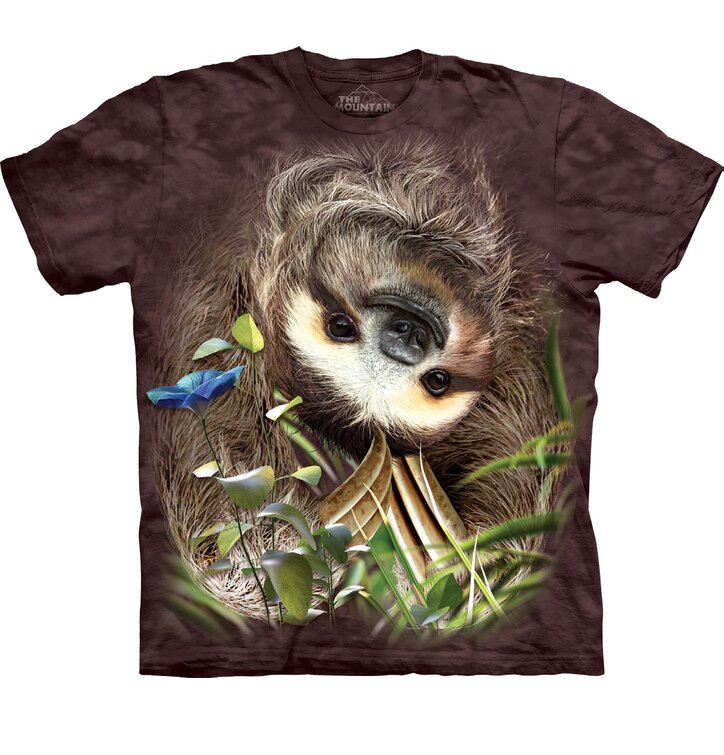 T-shirt Sloth Upside Down