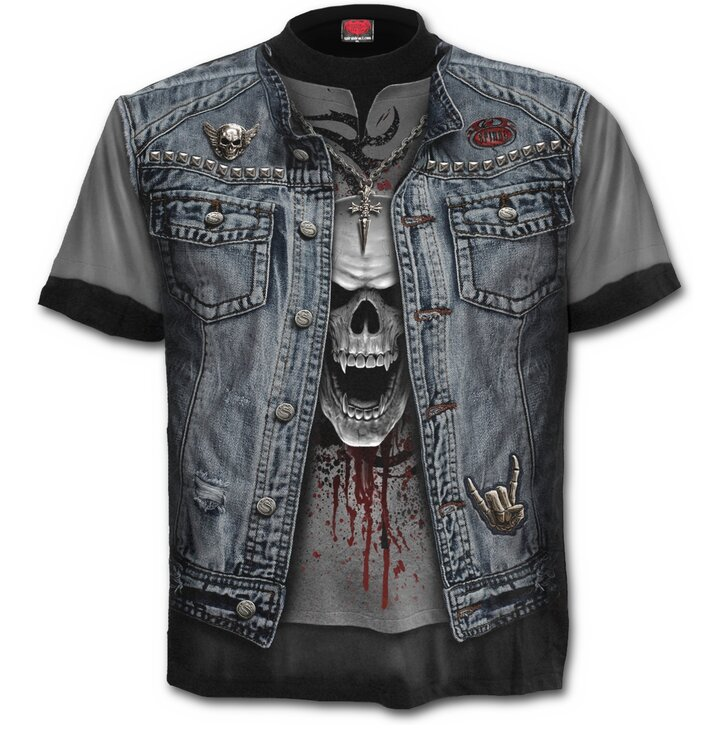 T-shirt Denim Vest