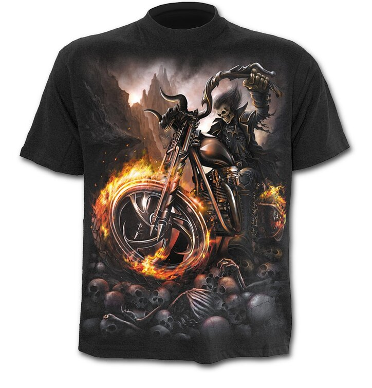 T-shirt Wheel on Fire