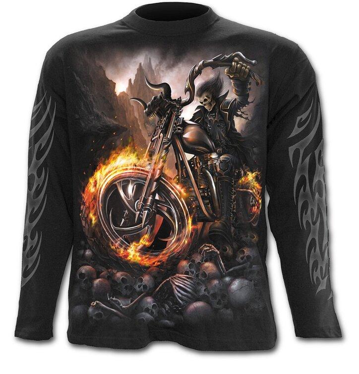 Dlhý rukáv Motorkár v ohni