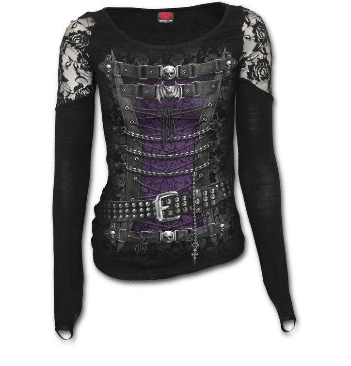 Potěšte se tímto kouskem Dedoles Dámské tričko s krajkou na ramenou Korzet 3de7cbbe6e